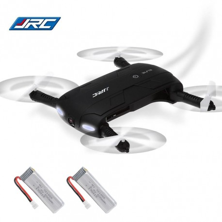 JJRC H37 ELFIE Selfie Drone με WIFI FPV 720p Camera / Height Holding / G-Sensor / Headless Mode - ΜΑΥΡΟ