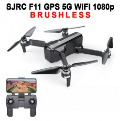 SJRC F11 BRUSHLESS 5G WIFI DOUBLE GPS FHD 1080p - BLACK
