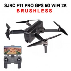 SJRC F11 PRO BRUSHLESS 5G WIFI DOUBLE GPS UHD 2K - BLACK